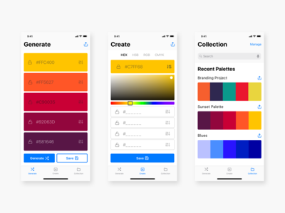 Colour Palette Generator for iOS