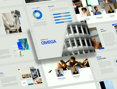 Omega Mnimalist Business Presentation Design