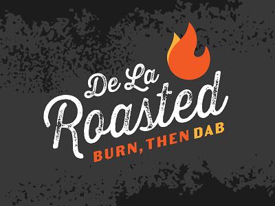 De La Roasted de la rosa logotype roasted flame fire logo