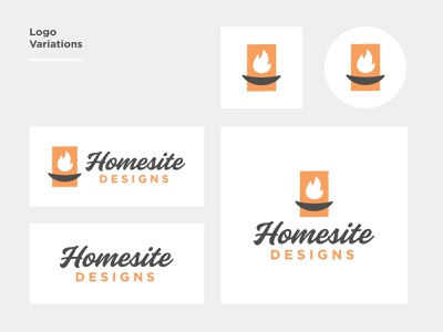 Homesite Designs campfire flame fire logo branding design typography illustration