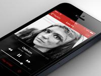 last.fm iOS7 - Red & Dark