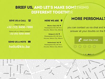 Contact us ui contact clean green website portfolio marketing maps