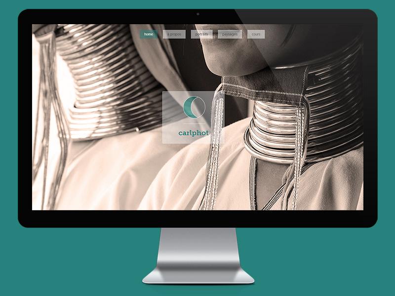 Carlphot website fullscreen responsive