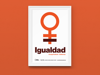 Orange The World –Poster 2 orange mexico city mexico neue haas typography type diseño design cartel poster