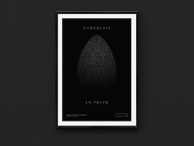 Dolcenero – Poster 2 (Chocolate Powder) black mexico city mexico avenir typography type diseño design cartel poster
