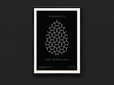 Dolcenero – Poster 2 (Chocolate with Marmalade) black mexico city mexico avenir typography type diseño design cartel poster