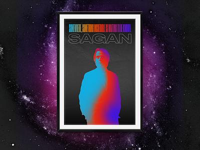 Sagan –Poster science space black mexico city mexico druk typography type diseño design cartel poster