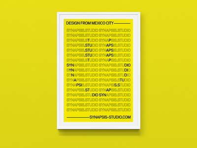 Synapsis –Poster neubau mexico city mexico typography type diseño design cartel poster