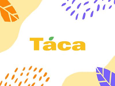 Táca –Fruit Company typography mexico fruit mango color identity branding logo