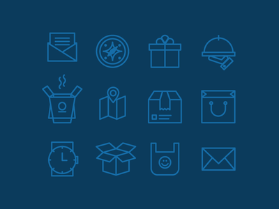 Sidecar Deliveries: Icon Set