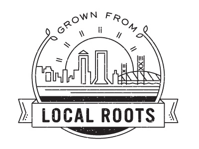 Local Roots local lines jacksonville bridge cityscape badge