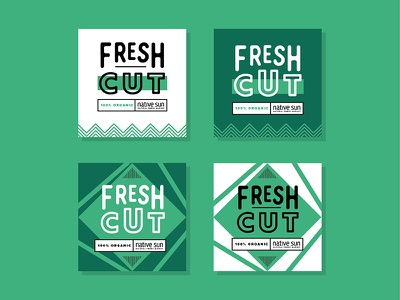 Fresh Cut Labels branding local icon illustration badge veggie fruit sticker lock up packaging package organic label food