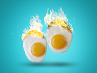 Eggs with fire