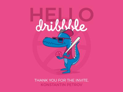Hello Dribbble! shot dribbble hello first