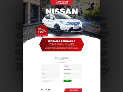Nissan design web landingpage nissan