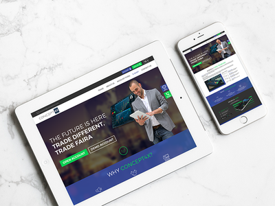 Forex Website website responsive mobile design web forex