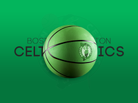 Boston Celtics Basketball Mockup