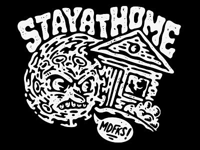 Stay safe, stay at home hardcore old school tattoo music coronavirus covid-19 covid19 covid lifestyle illustration artwork apparel