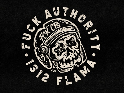 Fuck Authority hardcore graphic design old school tattoo punk music lifestyle illustration artwork apparel police brutality police acab