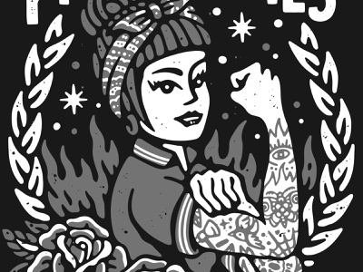 Proletaries hardcore graphic design old school tattoo punk music lifestyle artwork apparel illustration feminist feminism