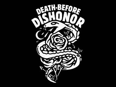 Death Before Dishonor illustration hardcore apparel tattoo artwork punk music lifestyle graphic design old school
