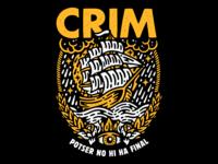 T-Shirt design for the punk rock band CRIM