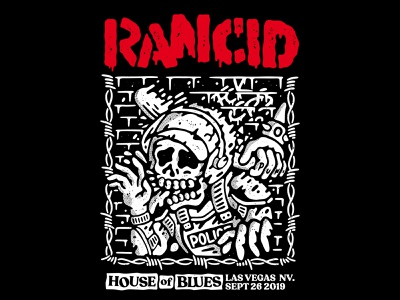 Rancid Gigposter band skate hardcore old school tattoo punk music apparel lifestyle illustration artwork