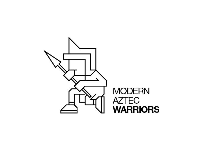 Modern Aztec Warriors branding clean geometric identity logo logotype minimal modern