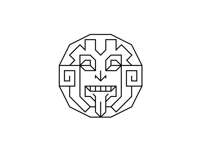 Tonatiuh branding clean geometric identity logo logotype minimal modern
