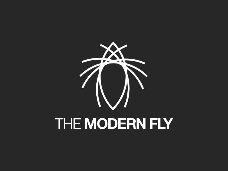 The Modern Fly branding clean geometric identity logo logotype minimal modern