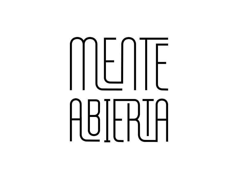 Mente Abierta branding clean geometric identity logo logotype minimal modern