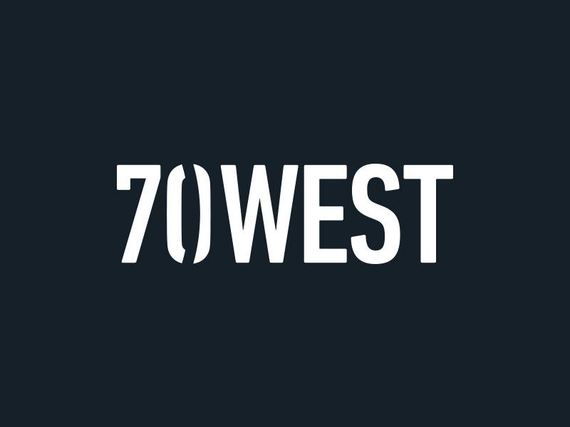 70 West branding clean geometric identity logo logotype minimal modern