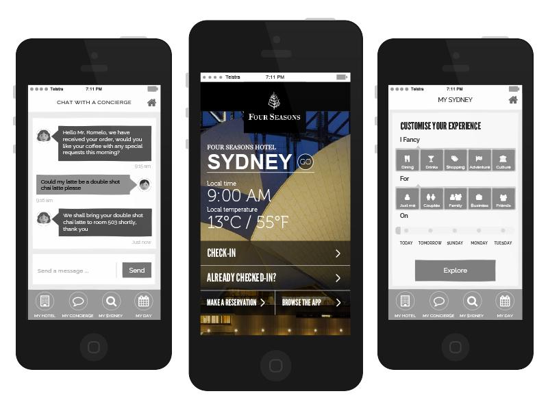 App Screens app ui ux wires