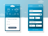 Daily UI: Sign Up & Payment Screens