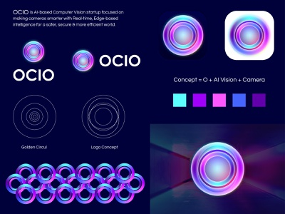 OCIO o cool futuristic virtual assistant virtual reality artificial intelligence ocio design branding design lalit logo logo design print brand identity logo designer branding designer india