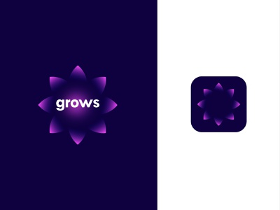 grows creative blossom evolve grow grows up rise design branding design lalit logo logo design print brand identity logo designer branding designer india