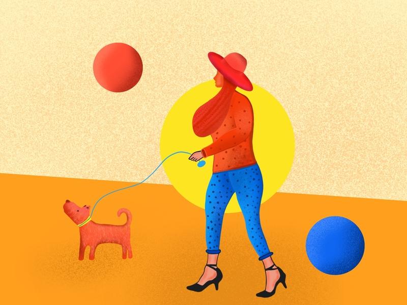 Girl illustration design lalit girl art procreate illustration designer india