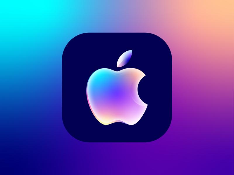 Apple Not Flat applenotflat apple logo design logo design logo designer branding lalit designer india