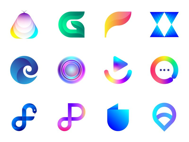 LogoIcon Collection 3 graphic q chat startup traveling artificial intelligence o x g a f e travel dp logotype logo brand identity design print branding lalit designer india