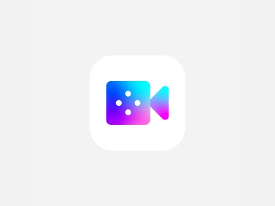 Video chat app icon icon videochat logo