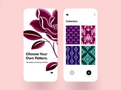 Pattern App ux ui startup screen minimal interface device light application pattern design designer lalit india
