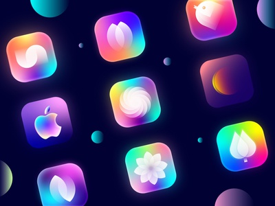 Cool App icons print colorful app icon beautiful logos illustration art illustrator draw cool appicons logotype logo logo design brand identity logo designer branding design lalit designer india