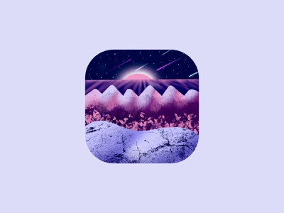 App Icon minimal morden brand vector night landscape nature logotype