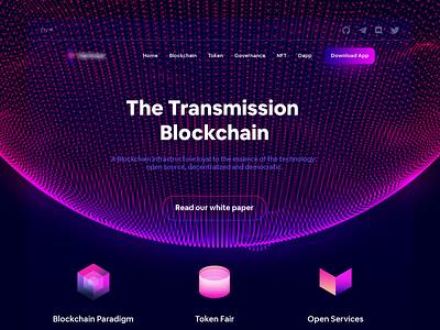 Transmission Blockchain transmission nft token dapp blockchain interaction promo video interface futuristic animation typogaphy web motion ux ui design lalit designer india