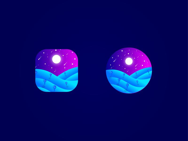 App Icon amazing app icon theme night logodesign vector illustration brand identity logo designer branding logo mobile app icon designer ios app icon ios app icon design design app icon app icon designer app icon lalit india