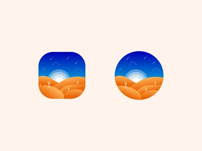 Desert App Icon illustration art vector design illustration desert app icon designers app icon design logo designer brand identity branding designer india lalit
