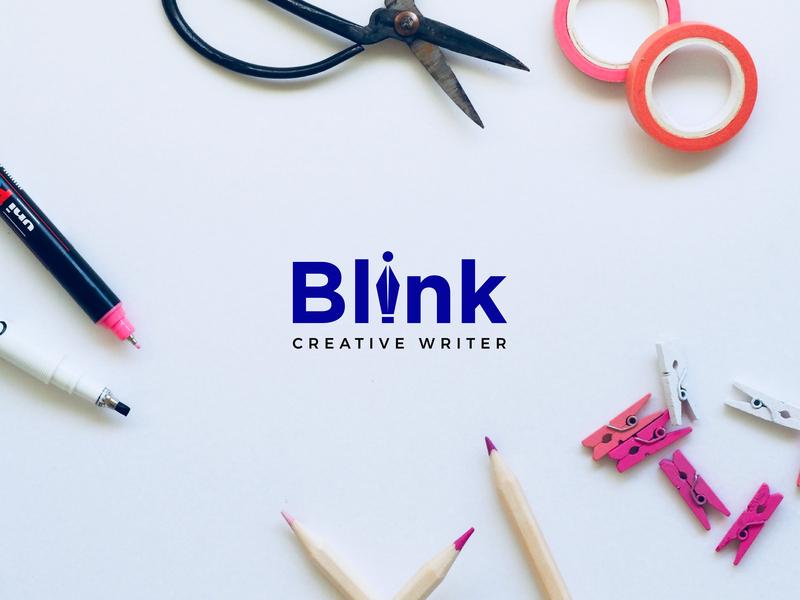 Blink Logo Design designs design creative creative design wordmark logo designer wordmark logo logo designer logos logo logo design logotype logodesign branding design branding design art brand lalit india blink designer
