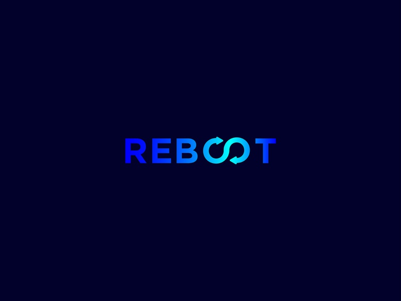 Reboot brand design strong creative powerful infinity branding rebranding redesign design box the of office out outline reboot lalit logo designer designer india