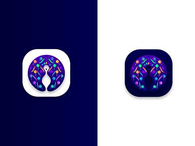 Peacock logodesign branding design app icon appicon design logo peacock logoicon logo design brand identity branding designer logo designer india