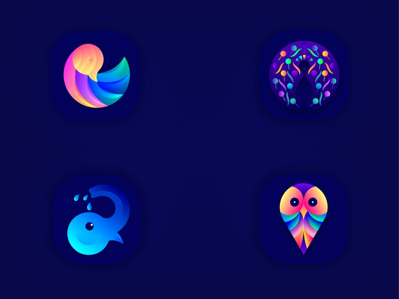 Animals App Icons graphic logodesigner creative amazing brandidentity branding design logoicon icon design iosappicon design appicon logodesign logo lalit logo design brand identity branding india designer logo designer